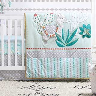 turquoise and green crib bedding