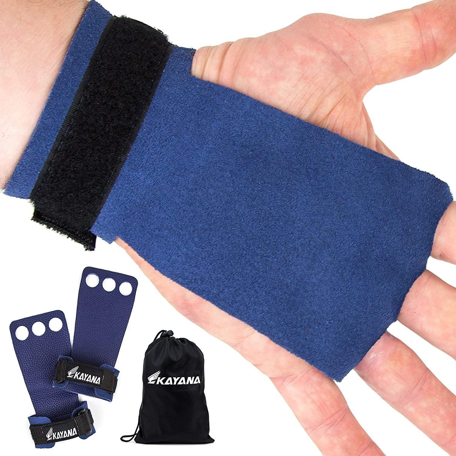 KAYANA Fashionable 3 Hole Cheap mail order sales Leather Gymnastics Hand - an Grips Protection Palm