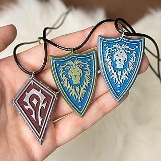 Orda e Alleanza collane da World of Warcraft in resina e polvere di alluminio