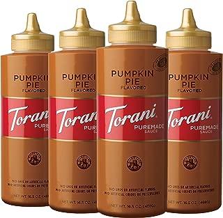 Torani Pumpkin Pie Puremade Sauce, 16.5 Ounce, 4 Count