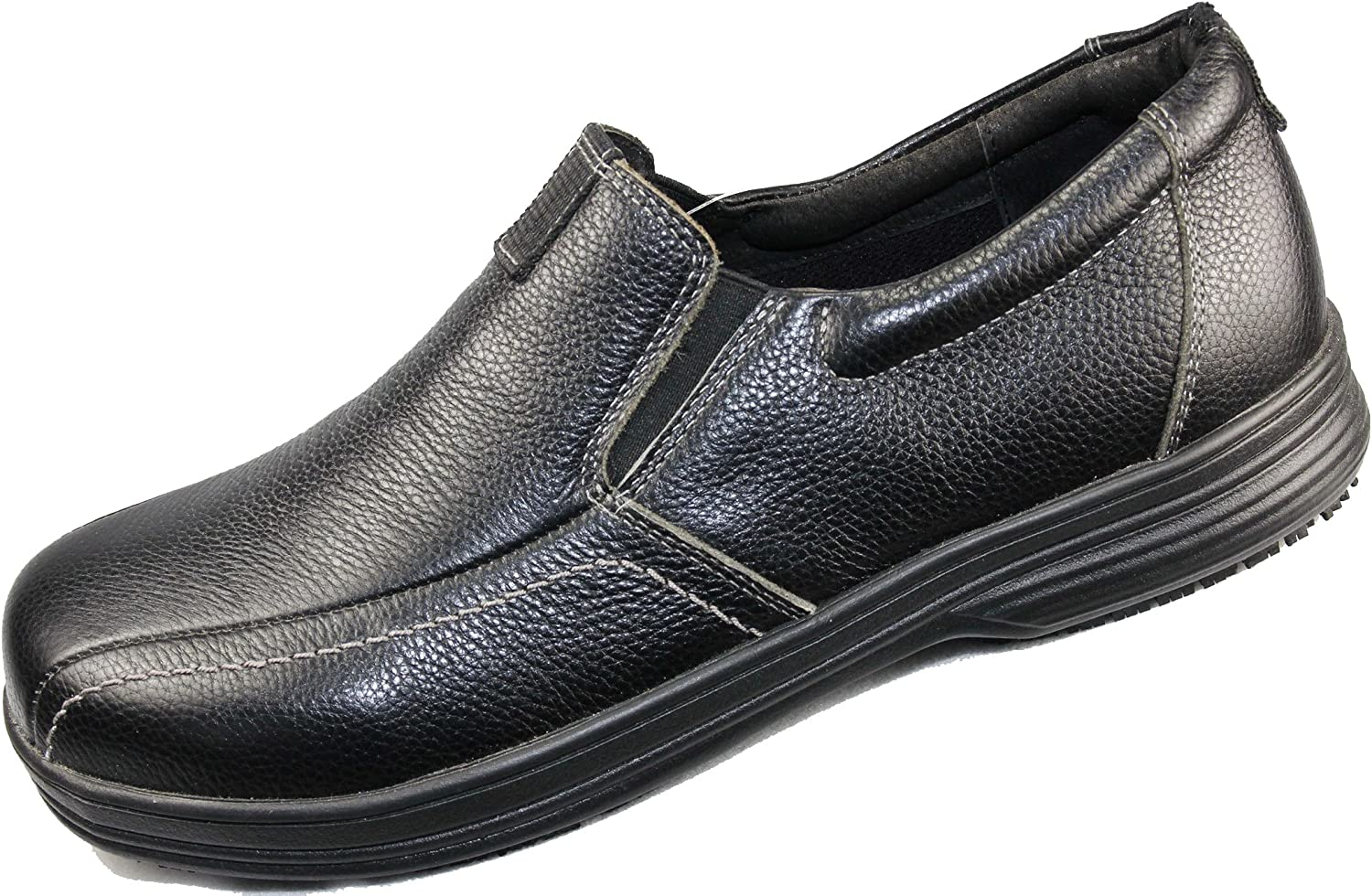 Laforst Stan 8205 Mens Work Slip Resistant Slip On Loafers Black 10