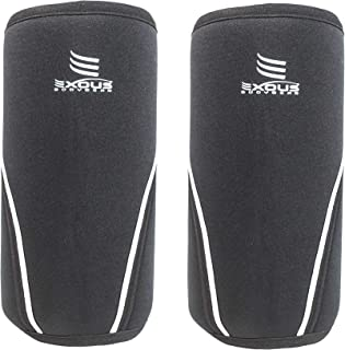 EXOUS Bodygear Knee Sleeves Compression & Support 7mm [1 Pair] Performance Neoprene for Weight Lifting Injury Recovery Cross-Fit Powerlifting Squats for Men & Women 12 Month Guarantee