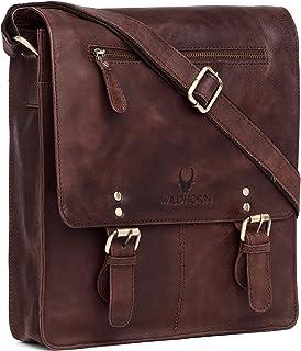 WILDHORN® Original Leather 11.5 inch Messenger Bag for Men I Multipurpose Bag I Office Bag I Travel Bag with Adjustable St...