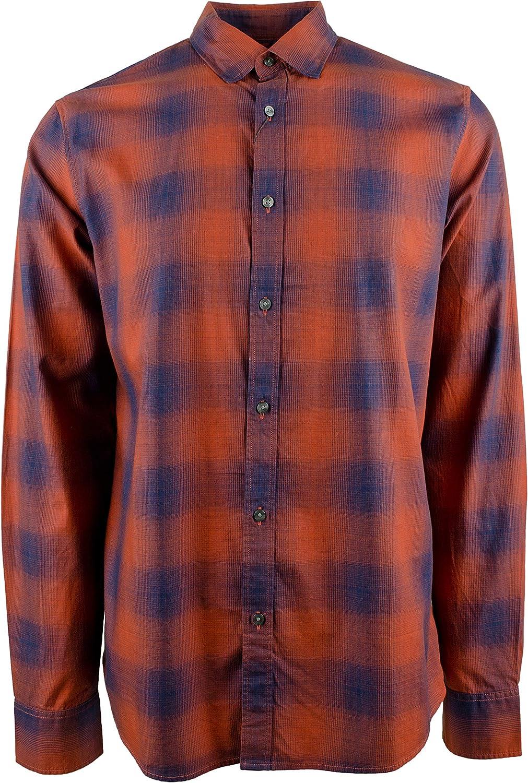 Men's Plaid Fresno Mall Slim-Fit OFFicial shop Sleeve Shirt Long