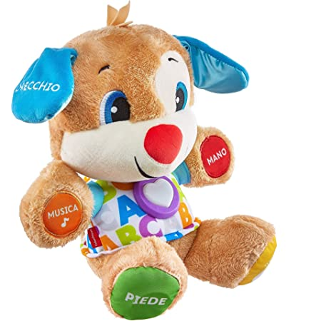 Fisher-Price il Cagnolino Smart Stages Ridi e Impara, Morbido Peluche Educativo con Musica e Canzoni, Giocattolo per Bambini di 6 + Mesi, FPM51