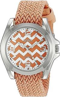 XOXO XO3418 Reloj plateado con correa naranja para mujer