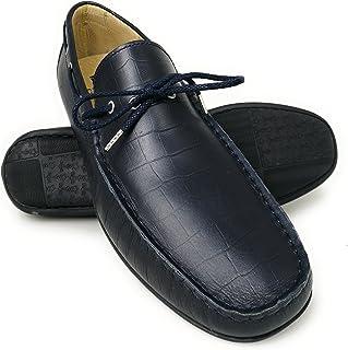 Zerimar Chaussures Bateau en Cuir pour Hommes | Chaussures Nautiques | Mocassins | Grandes Tailles 46-50