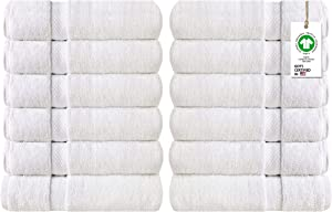 A1 HOME COLLECTIONS Organic Cotton Feather Touch Quick Dry 700 GSM Wash Cloth, White 13