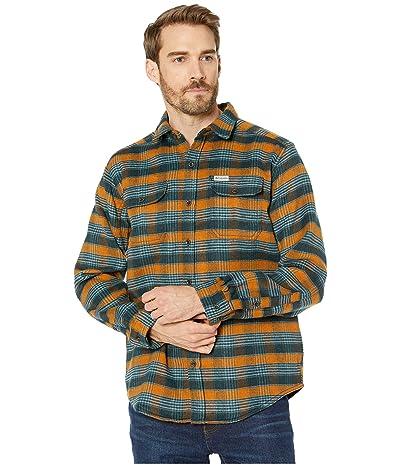 Columbia Deschutes Rivertm Heavyweight Flannel (Burnished Amber Medium Plaid) Men