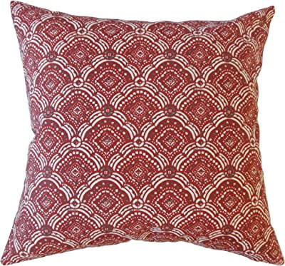 The Pillow Collection P18-WAV-750473-MURRAYMARBLE-SPRING-C100 Zaltana Damask Pillow Spring