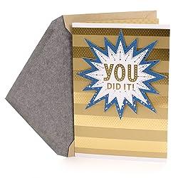 Hallmark Congratulations Card or Graduation Card (You Did It!)