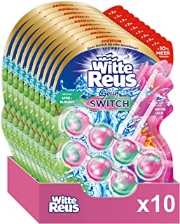 Witte Reus Geur Switch Appelboesem Waterlelie Toiletblok - Voordeelverpakking - 2 x 10 Stuks