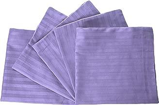 Panache Exports Satin Stripe Cushion Cover Set, Lavender, 45 cm x 45 cm, PECUSCVR01, 5 Pieces