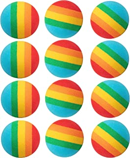 Hog Wild Rainbow Popper Refill Balls, 12 Pack - for Poppers and Power Popper Toys - Age 4+