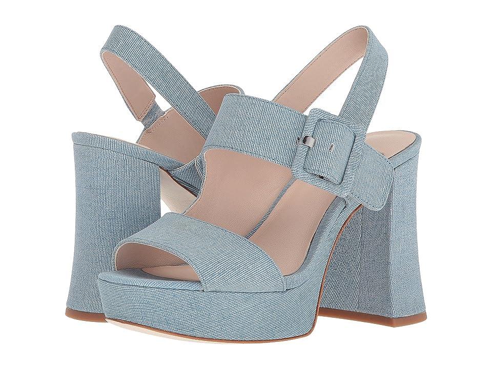 Nine West Lexine 40th Anniversary Platform Heeled Sandal (Light Blue Leather) Women