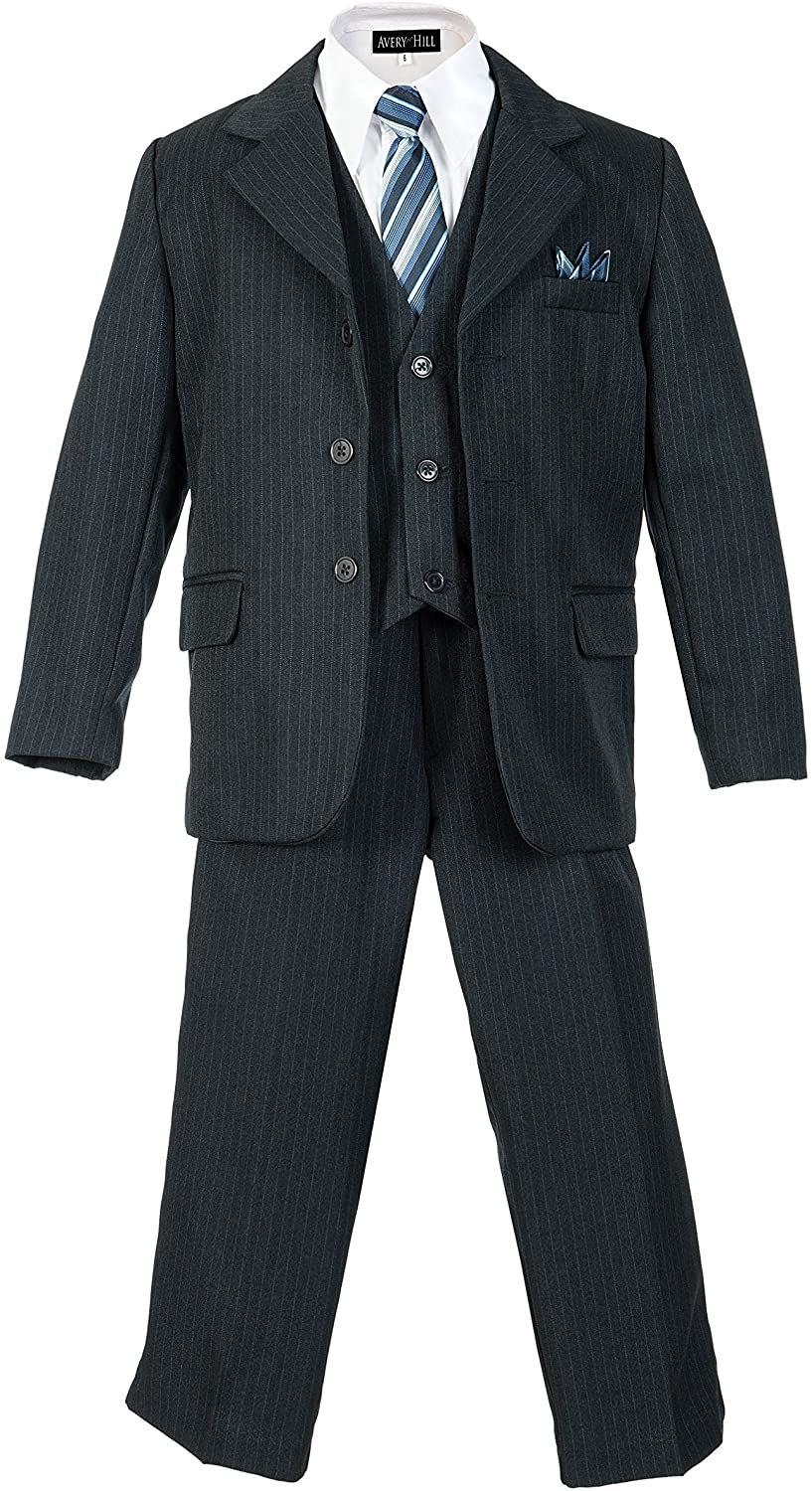 1930s Children's Fashion: Girls, Boys, Toddler, Baby Costumes Boys Pinstripe Suit Set with Matching Tie Size 2T-20 $44.99 AT vintagedancer.com