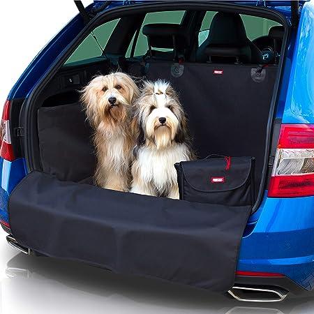 Dobar 62300 Walky Bond Vielseitige Kofferraum Schondecke Faltbare Hunde Schutzdecke Mit Tragetasche 100 X 80 X 30 Cm Xxl Grau Blaugrau Haustier