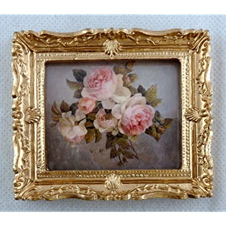 Melody Jane Dollhouse 2 Victorian Portrait Pictures Paintings in Gold Frames