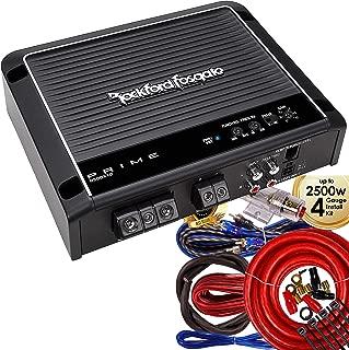 Rockford Fosgate Prime R500X1D 500 Watt RMS Mono Car Class D Amplifier + 4 Gauge Amplifier Kit