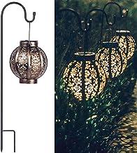 Retro Hanging Solar Lanterns, Solar Outdoor Lights Backyard Decor for Yard Tabletop Garden, 8 Lumens - 2Packs
