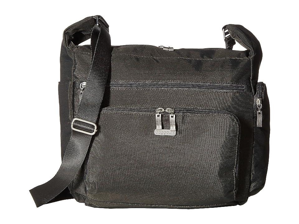 Baggallini Legacy Travel Hobo with RFID Wristlet (Charcoal) Hobo Handbags