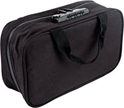 Medicine Safe LTB-1 TSA Approved Locking Toiletry Organizer and Medication Travel Bag for Men and Women, Small Carry On, Non-Hanging, Black Without Logo, 10.2 x 7.5 x 1.6 inches