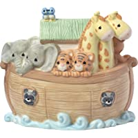 Precious Moments Overflowing with Love Noah's Ark Top Slot Porcelain Nursery Decor Baby Bank