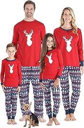 Parures de Pyjamas de Noël Rouge avec Motif Marmot