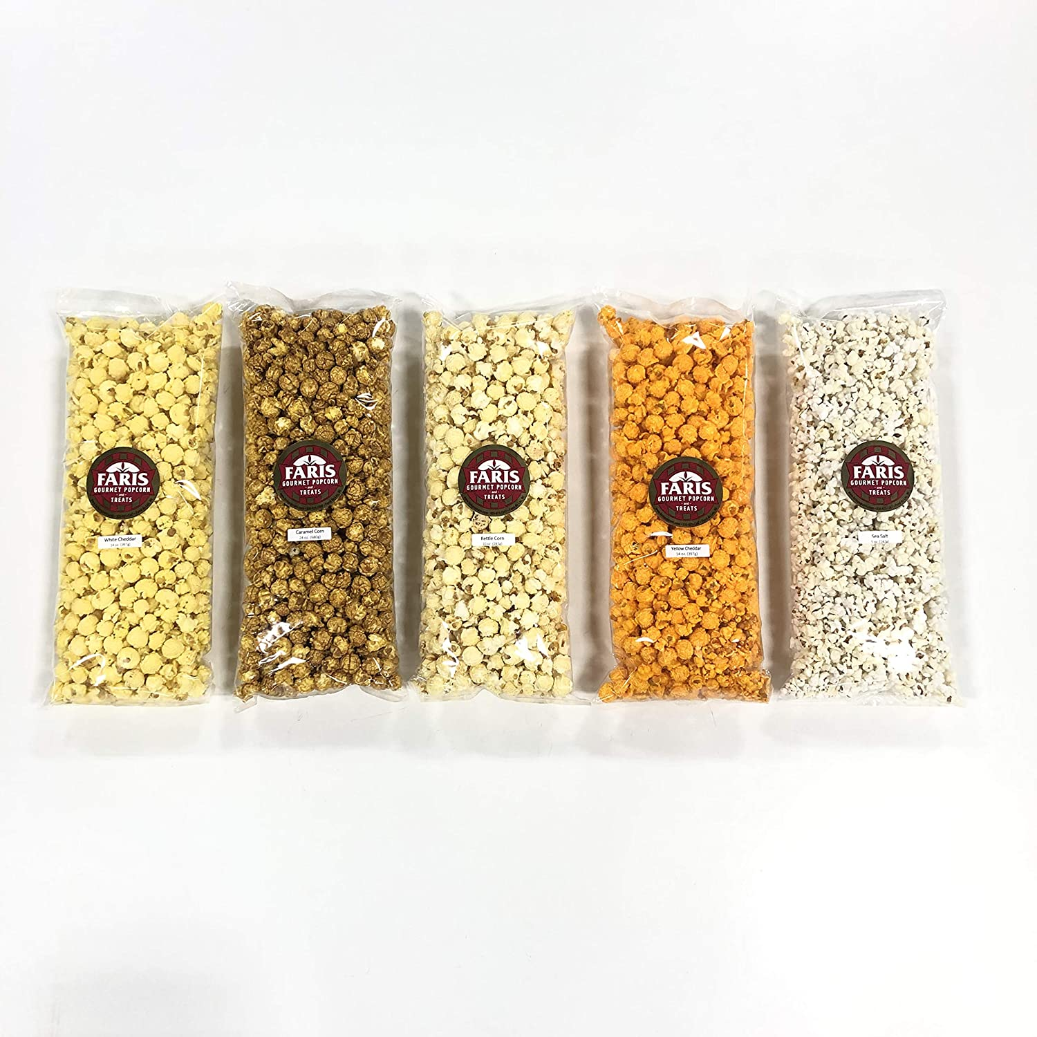 100% quality National products warranty Faris Gourmet Popcorn Large 5 Variety Pack CLASSIC Bag Party
