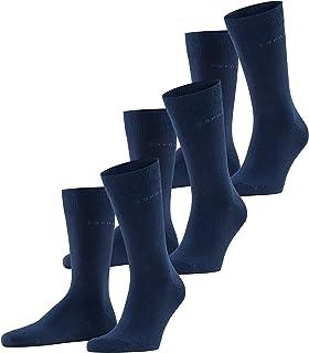 ESPRIT Esprit Socken Solid 3-Pack Baumwolle Herren schwarz grau viele weitere Farben verstärkte Herrensocken ohne Muster atmungsaktiv dünn und einfarbig im Multipack 3 Paar