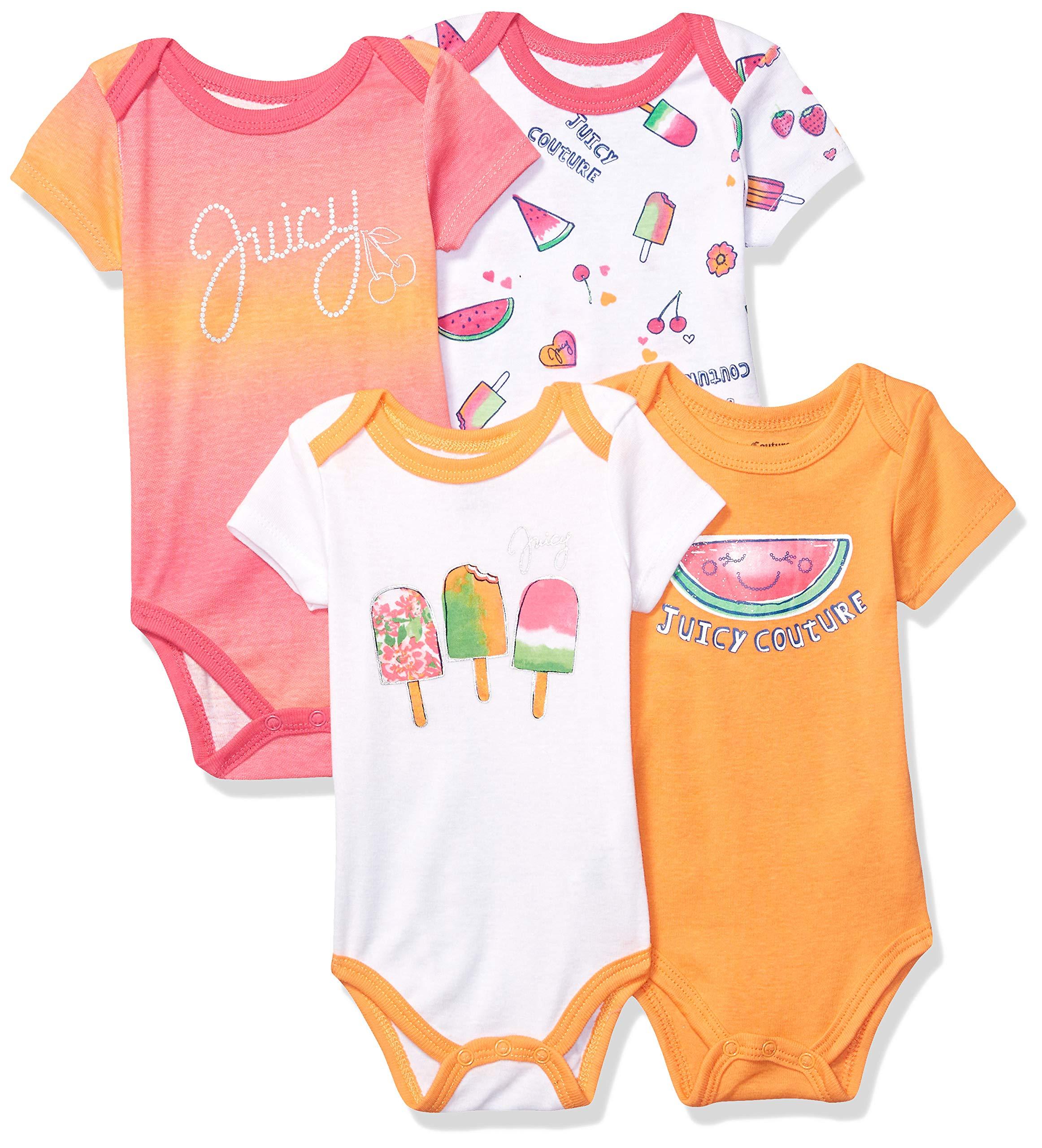 ジューシークチュール女の赤ちゃんジャンプスーツ4セット