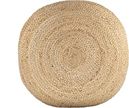Ava Round Jute Pouf Natural 26''x7''