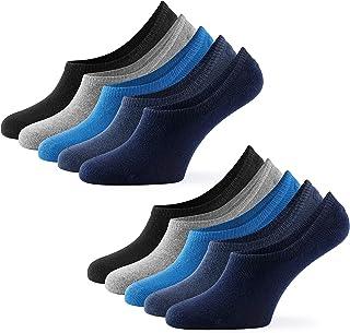 Mat and Vic's, Mat & Vic's Calcetines Cortos par Hombre y Mujer Invisibles Respirable Calcetines tobilleros Algodón Antideslizantes,Certificado Oeko-Tex 100