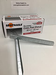 Spotnails 87006 Galvanized Chisel Point Staples 10mm 3/8