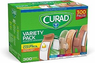 300 عدد پودر انواع باند های مختلف Curad، از جمله ضد باکتری، باند سنگین، پارچه و باند ضد آب