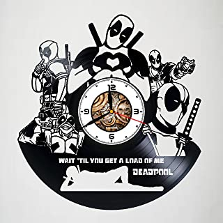 Deadpool - FILM - Handmade Vinyl Wall Clock - Original gift for any occasion – unique birthday, anniversary, Valentine's day gifts - Wall décor Ideas for any space - Customize your clock !