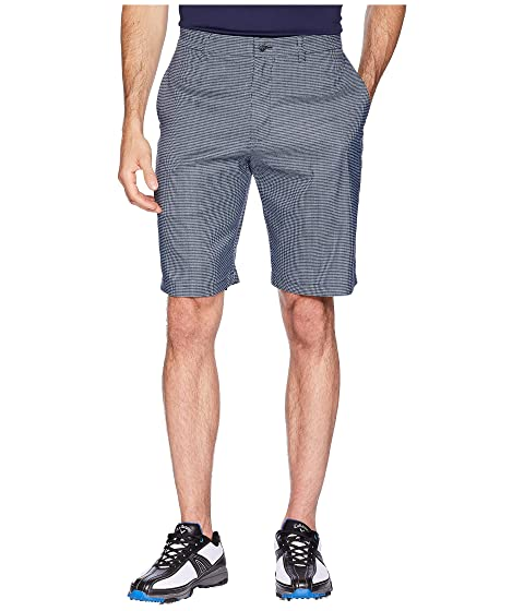 CALLAWAY Printed Heather Houndstooth Shorts, Peacoat/Quiet Shade