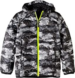 Geared Hoodie Synthetic Down Jacket (Big Kids)