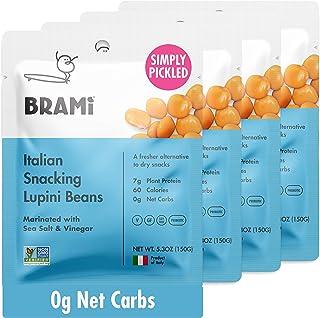 Sponsored Ad - BRAMI Lupini Beans Snack, Sea Salt & Vinegar | 7g Plant Protein, 0g Net Carbs | Vegan, Vegetarian, Keto, Pl...
