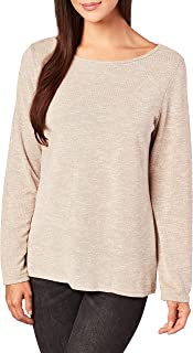 Women's Solid O Neck Long Sleeve T Shirt Casual Knit Tops Blouse Pullover