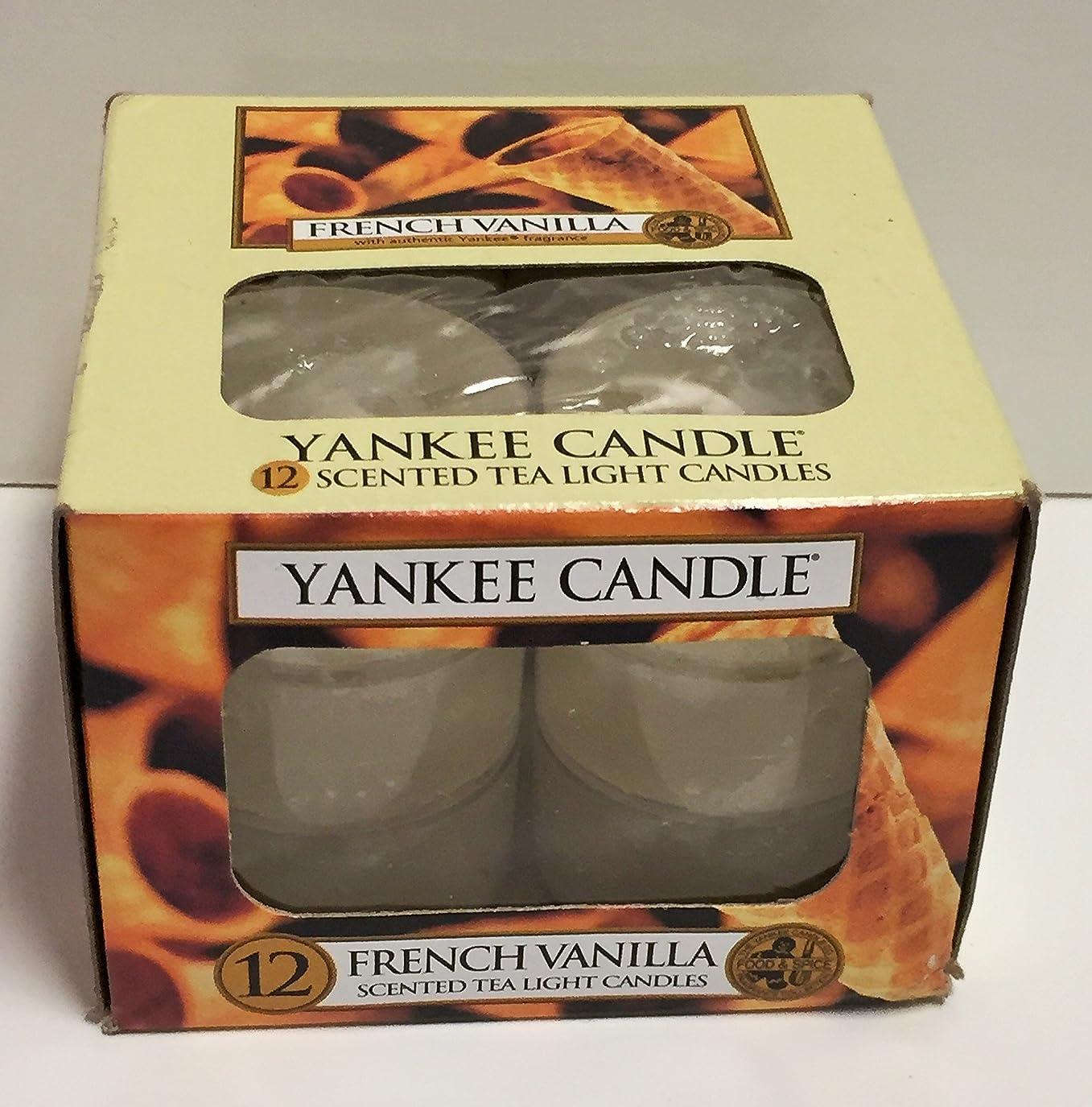 居眠りする軍艦王女Yankee Candle Large 22-ounce Jar Candle、フレンチバニラ Tea Light Candles 14112-YC