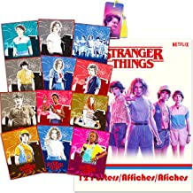 Stranger Things Poster Book Super Set ~ Bundle Includes 12 Posters Featuring Eleven, Dustin, Mike, Will, and More with Boo...