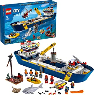 LEGO City Oceans Ocean Exploration Ship 60266 building set with submarine, helicopter and speedboat, Toy for kids 7+ years...