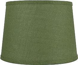 green drum lamp shades