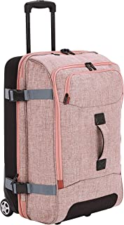 AmazonBasics Wheeled Travel Duffel, Medium, Salmon