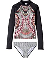 Billabong Kids - Boho babe Long Sleeve Rashguard Set (Little Kids/Big Kids)