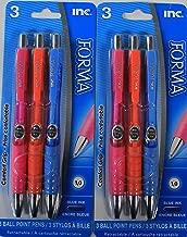 Inc Forma Set of 2 (3 Pack) Blue Ink Pens - (6 Pens Total)
