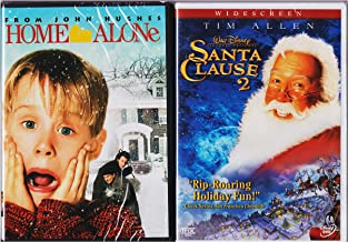 Home Alone Christmas Classic DVD & Santa Clause 2 Holiday Collection Double Feature Bundle Movie Set