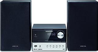 Micro impianto compatto Grundig CMS 1050 DAB + BT (Bluetooth, riproduzione CD Mp3, porta USB), colore: nero/argento