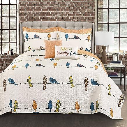 Lush Decor Lush Décor Rowley Birds 7 Piece Quilt Set King Multi